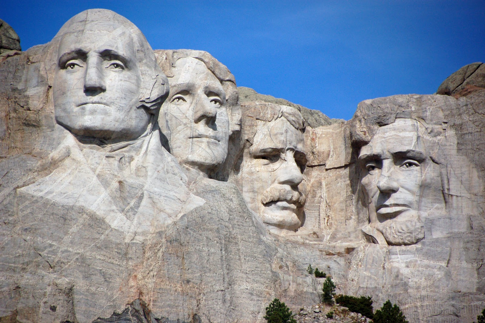 image of Mt Rushmore in the ancestral homelands of the Lakota people
